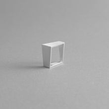 Load image into Gallery viewer, MK3 ASYMMETRIC RING in BLACK + ALUMINIUM SQUARE RING