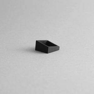 MK3 ASYMMETRIC RING in BLACK + ALUMINIUM SQUARE RING