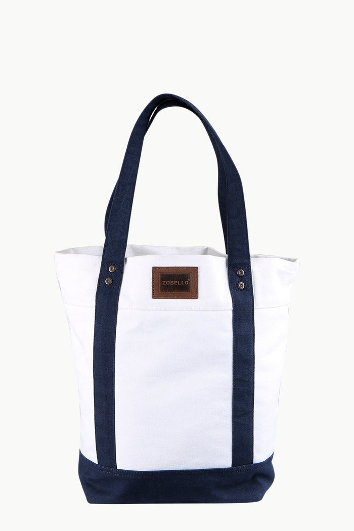 Throw In White Canvas Tote Bag