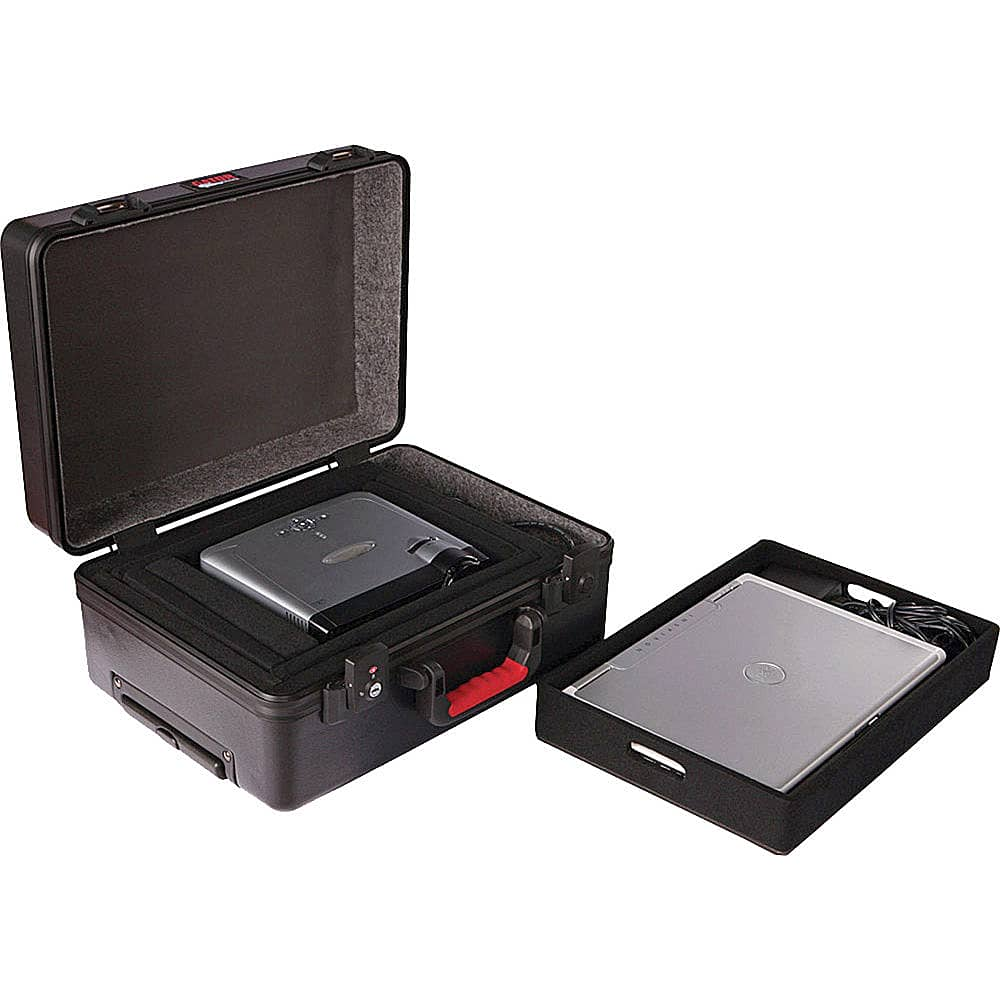 Gator Cases GAV-LTOFFICETSA ATA Molded Case with Removable Laptop Tray with Wheels and Tow Handle