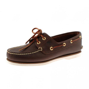 Classic 2 Eye Boat Shoe Leather - Brown