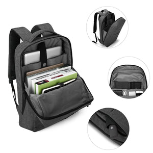 BAGSMART Water Resistant Laptop Backpack with Headphone Port