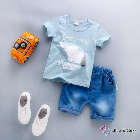 Smile It's Wednesday Baby Boy's Outfit