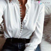 Casual Chiffon Solid Color Blouse