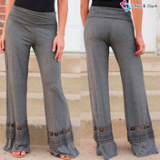 Casual Boho Hollow Out Pants