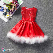 Miss Santa Christmas Little Girl's Party Dress