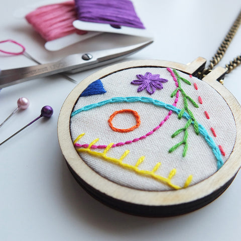 Hand Embroidered Pendant Workshop with Hayley Mills-Styles