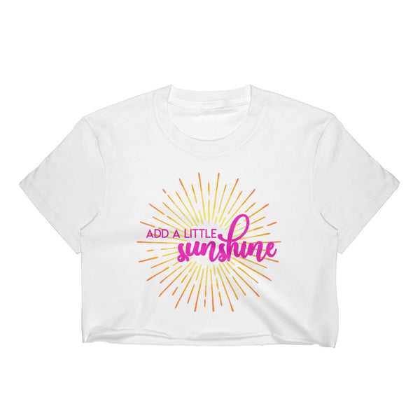 Add a Little Sunshine Women's Crop Top