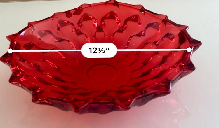 SAMBA Red Shallow Bowl