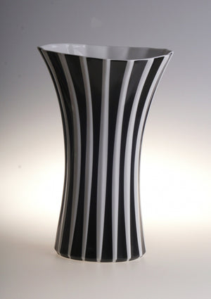 Retro vase with stripes