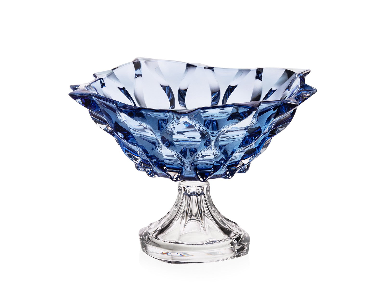Crystal glass wedding gift set - blue