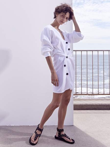 Lovers Linen Twist Dress