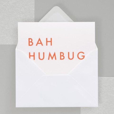 OLA Studio - BAH HUMBUG foil blocked card