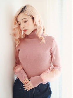 Pink Slim Fit Top with See Through Detail (4 colours)