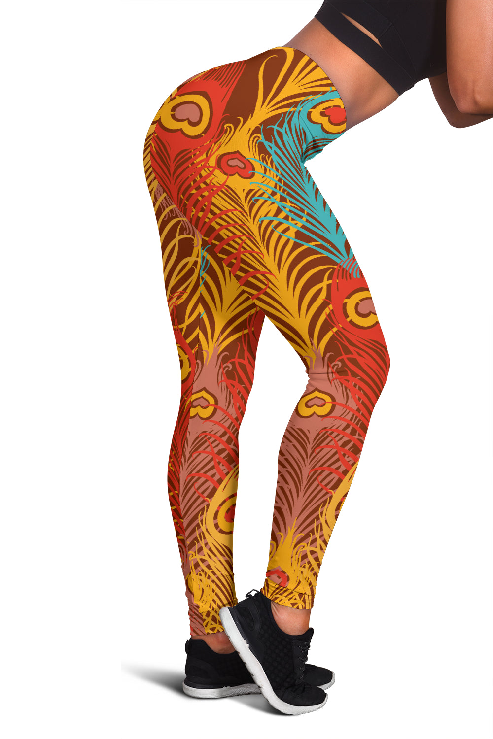 Colorful Peacock Leggings - Her Athletic Lifestyle
