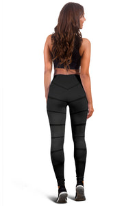 Black ZenMaster Abstract Leggings - Her Athletic Lifestyle