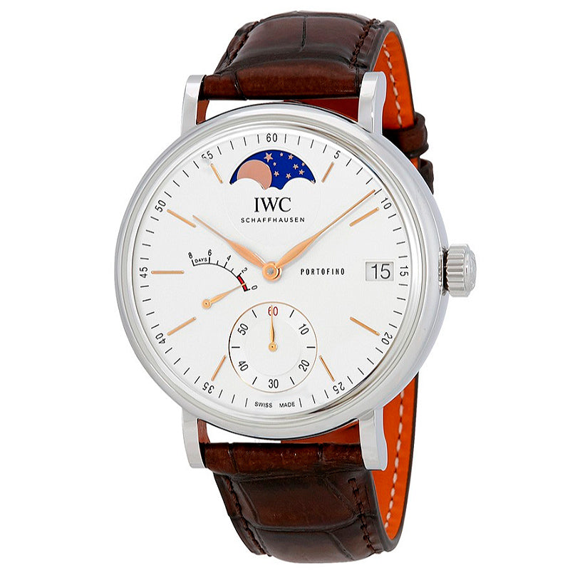 IWC Portofino Silver Dial Men's Hand Wound Watch