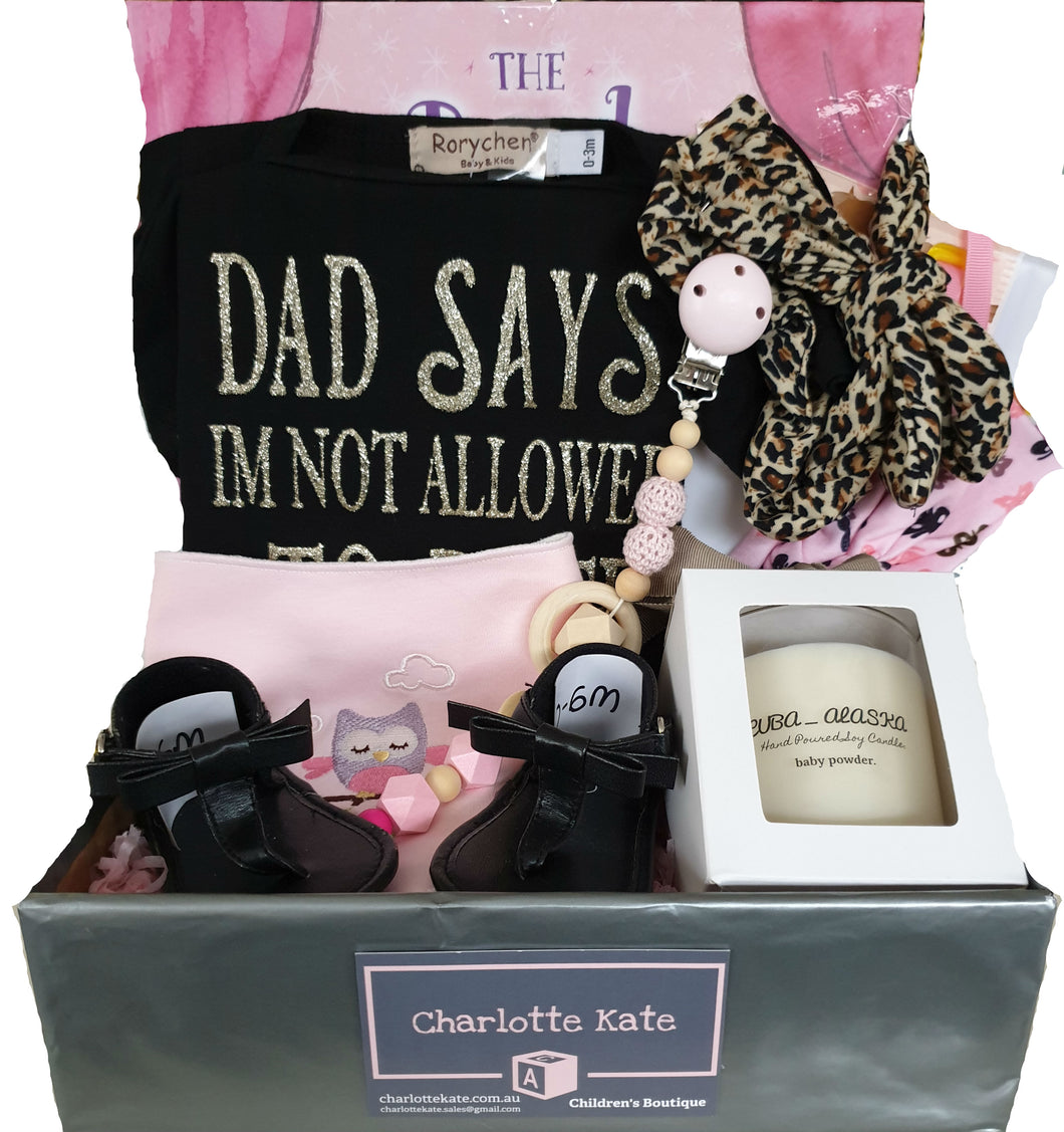 Baby Hamper - Girls 'Not Allowed To Date Ever'