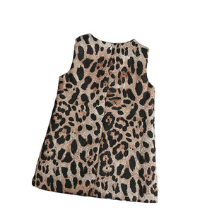 Girls leopard print party dress (3YR-9YR)