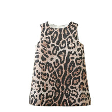 Load image into Gallery viewer, Girls leopard print party dress (3YR-9YR)