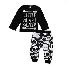 Load image into Gallery viewer, Little Heart Breaker panda outfit