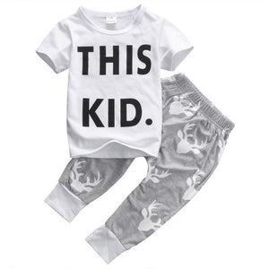 This Kid t-shirt and pants - WHITE