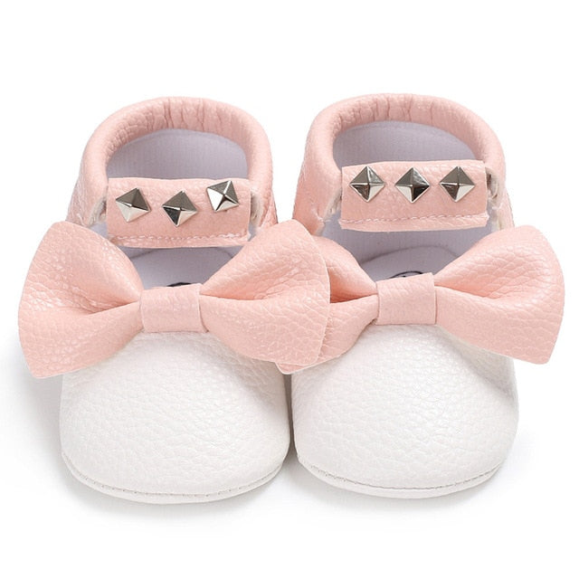 Baby bow sneakers - 2 COLOURS (0-18M)