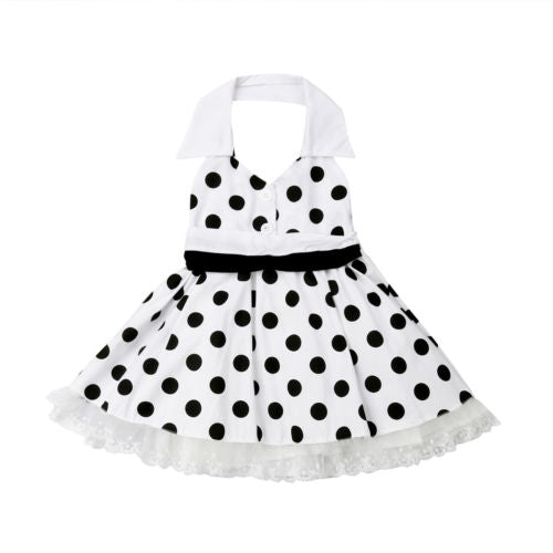 Audrey halter dress (12M-5YR)
