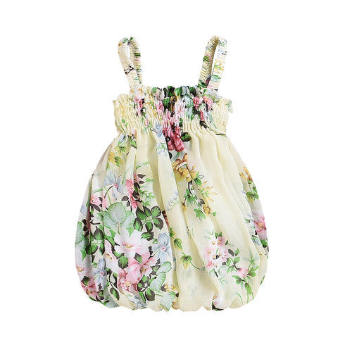 Floral bubble dress (0M-2YR)