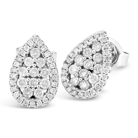 Pear Shape Micro Pave Diamond Earrings