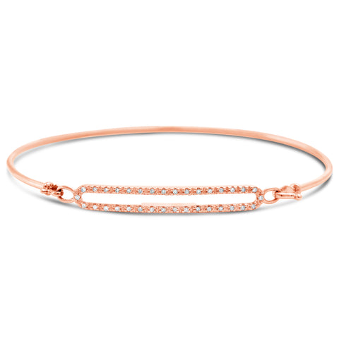 Double Diamond Bar Bangle