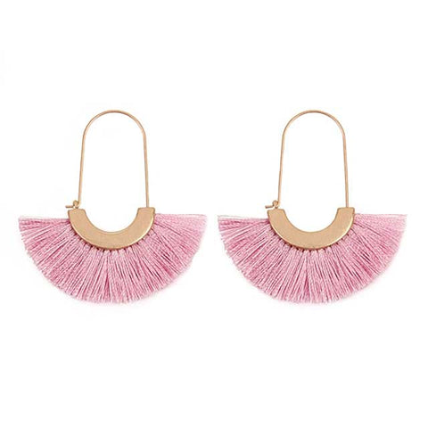 Fan Tassel Hook Earrings