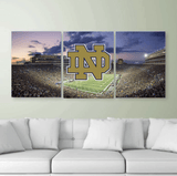 Three Piece Notre Dame Painting