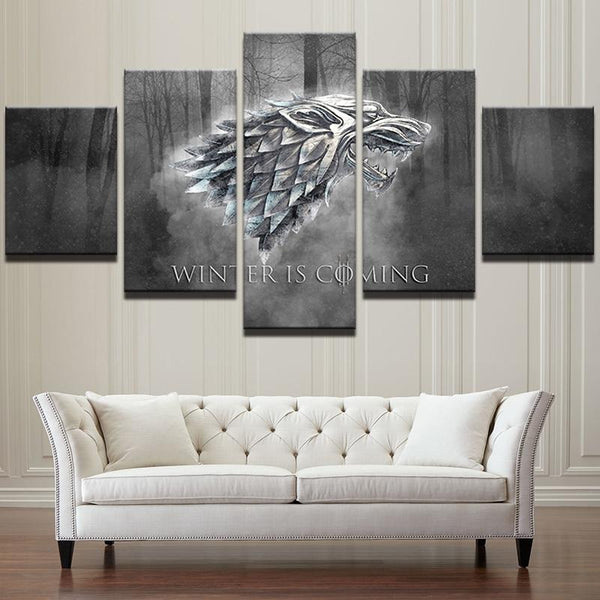 Five Piece Game of Thrones Painting