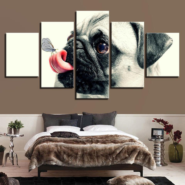 Five Piece Cute Dog Painting