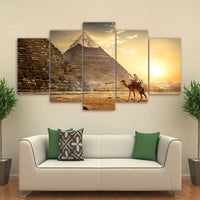 Five Piece Egyptian Pyramid Painting