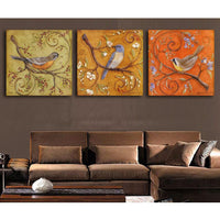 Three Piece Bird Painting