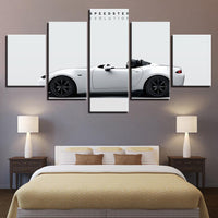 Five Piece Sports Car Painting