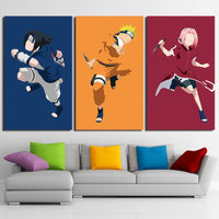 Three Piece Naruto Character Painting