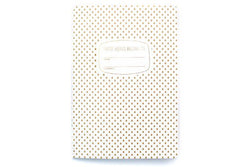a5 gold pattern notebook