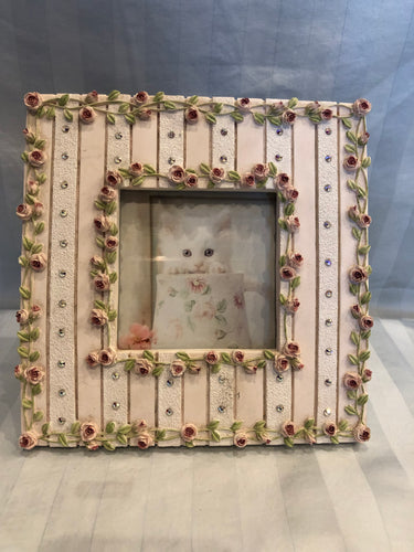 shabby chic roses picture frame