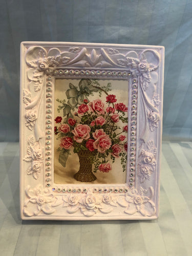 shabby chic pink picture frame