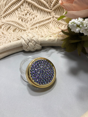 Container gold rim with purplish (paradise shine)