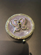 Load image into Gallery viewer, Argento Swarovski embellished compact mirror