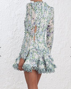 White Weave Lace Dress by Zimmermann