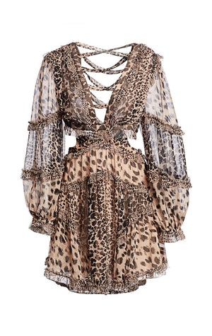 Allia leopard cutout dress by Zimmermann
