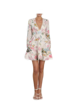 Heathers flounce dress by Zimmermann