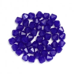 Bicone Beads 4mm Dark Slate Blue