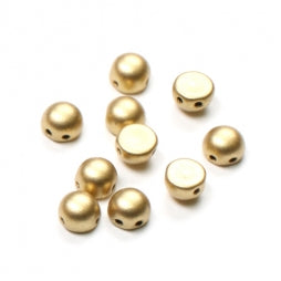 2-Hole Cabochons 6mm Aztec Gold