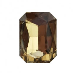 Fancy Stone Rectangle 13x18mm Light Coffee